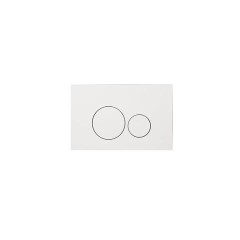 Blinq Chelmer bedieningsplaat ronde knoppen glans wit