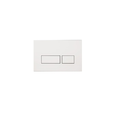 Blinq Chelmer bedieningsplaat - rechthoekige knoppen - glans wit