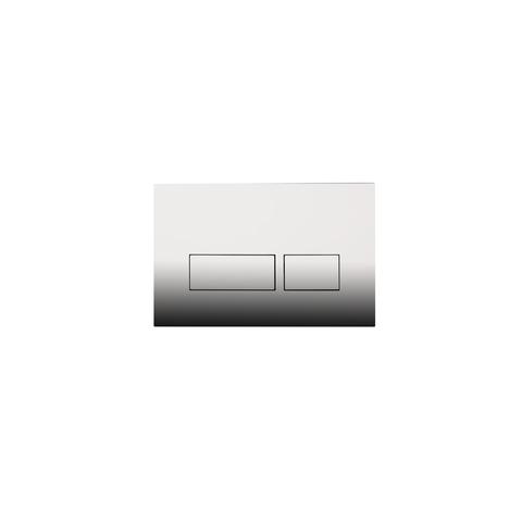 Blinq Chelmer bedieningsplaat - rechthoekige knoppen - glans chroom