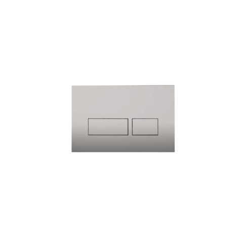 Blinq Chelmer bedieningsplaat - rechthoekige knoppen - zilver