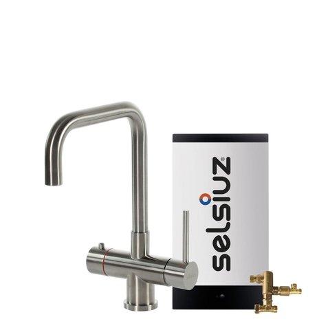 Selsiuz kokendwaterkraan haaks - inox - combi boiler
