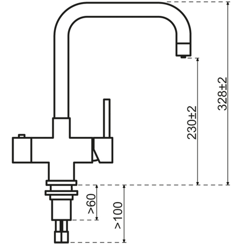Selsiuz kokendwaterkraan haaks - inox - combi extra boiler
