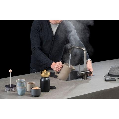 Selsiuz kokendwaterkraan haaks - gunmetal - combi boiler