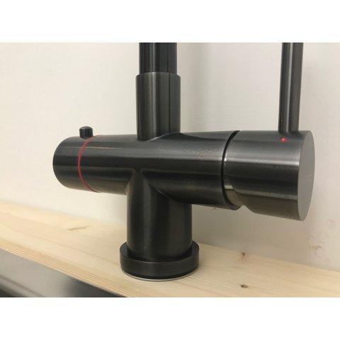 Selsiuz kokendwaterkraan haaks - gunmetal - combi extra boiler