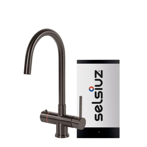 Selsiuz kokendwaterkraan rond - gunmetal - single boiler