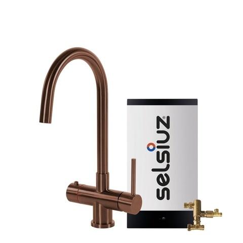 Selsiuz kokendwaterkraan rond - koper - combi boiler