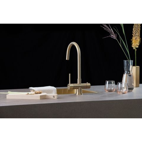 Selsiuz kokendwaterkraan rond - gold - single boiler