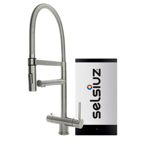 Selsiuz kokendwaterset met kraan XL - inox - single boiler