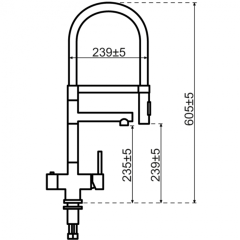 Selsiuz kokendwaterset met kraan XL - inox - combi boiler