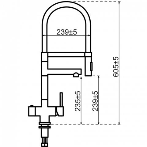 Selsiuz kokendwaterset met kraan XL - gunmetal - single boiler