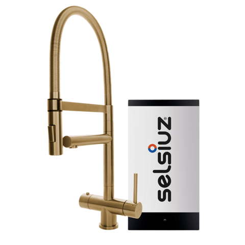 Selsiuz kokendwaterset met kraan XL - gold - single boiler