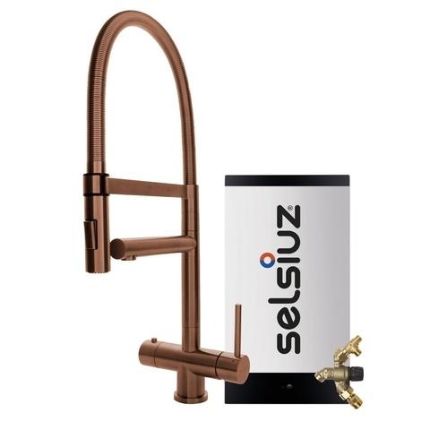 Selsiuz kokendwaterset met kraan XL - koper - combi extra boiler