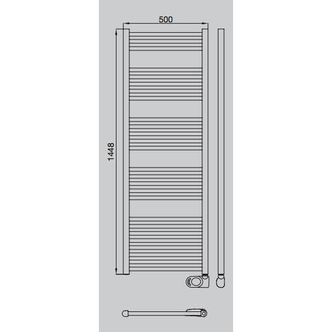 Solar El HD-RAD elektrische handdoekradiator 150 x 50 cm (H x L)