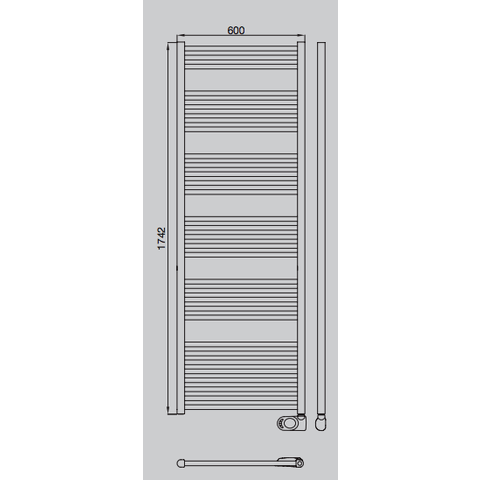 Solar El HD-RAD elektrische handdoekradiator 175 x 60 cm (H x L)