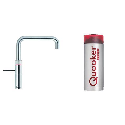 Quooker Fusion Square kokend water keukenmengkraan - RVS - met Combi+ boiler