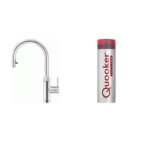 Quooker Flex kokend water keukenmengkraan - RVS - met Pro3 boiler