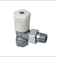 Heimeier mikrotherm handbediende radiatorkraan 1/2 haaks