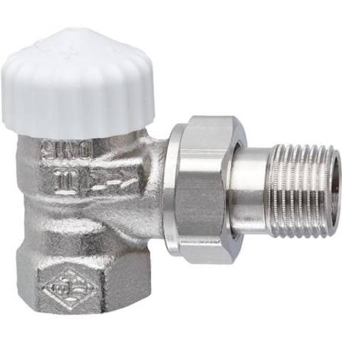 Heimeier v-exact ii voorinstelbare thermostatische radiatorkraan 1/2 haaks. t.b.v. m30 kop