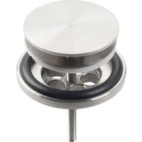 Clou Mini Wash Me plug, met afdekkap, niet afsluitbaar, rvs geborsteld