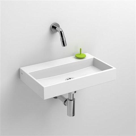 Clou Mini Wash Me fontein 38cm met voorbewerkt kraangat wit mineral marmer