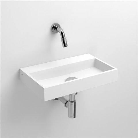 Clou Mini Wash Me fontein 38cm met voorbewerkt kraangat wit aluite