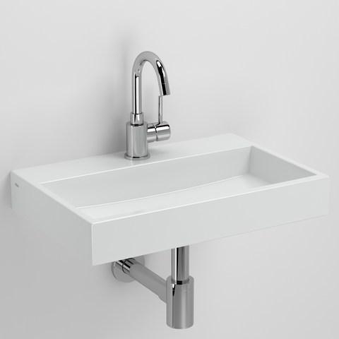Clou Mini Wash Me Plus fontein 48cm met kraangat wit keramiek