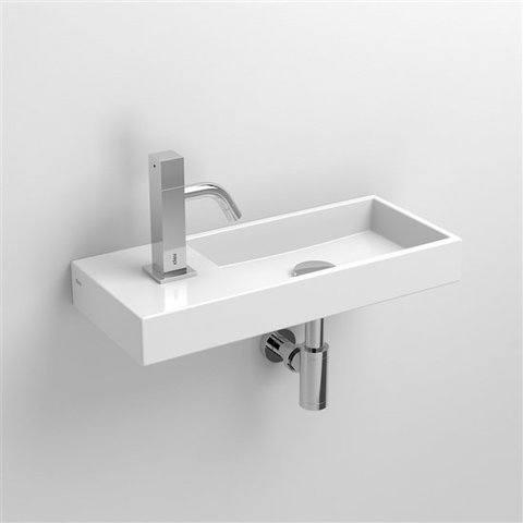Clou Mini Wash Me fontein 45cm kraangat links keramiek