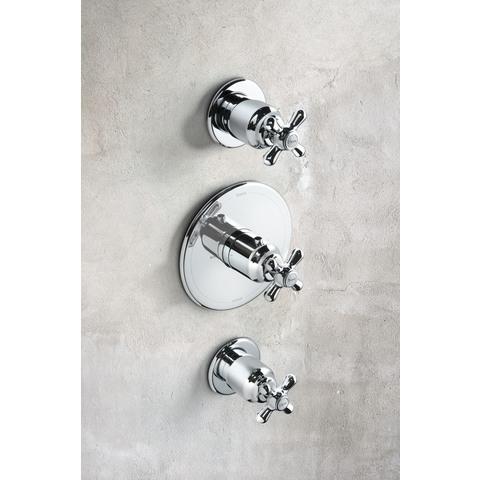 Hotbath Amice 007 inbouw thermostaat klassiek met 2 stopkranen chroom