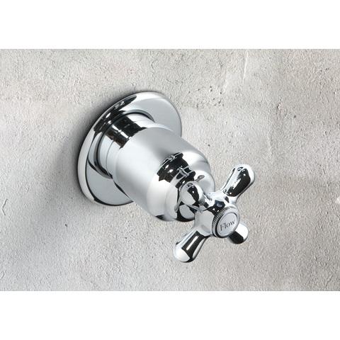 Hotbath Amice 010 Inbouw stopkraan klassiek chroom