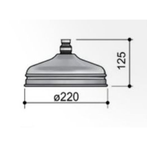 Hotbath Amice / Mate 379LCR hoofddouche klassiek 22cm