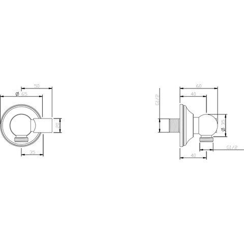 Hotbath Amice / Mate M510 wandsteun verstelbaar + uitlaat