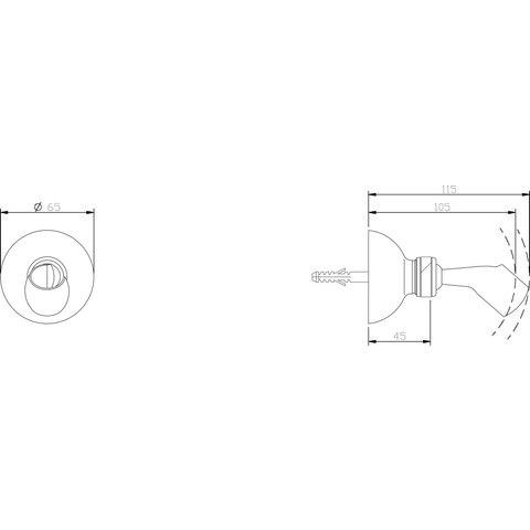 Hotbath Amice / Mate M511 wandsteun verstelbaar