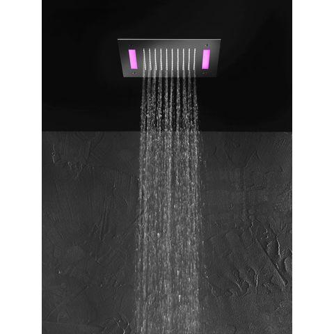 Hotbath Mate M174 hoofddouche vierkant 30cm met LED verlichting chroom