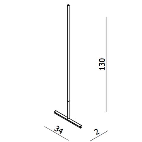 Blinq El paso vloerwisser met steel 130 cm. chroom