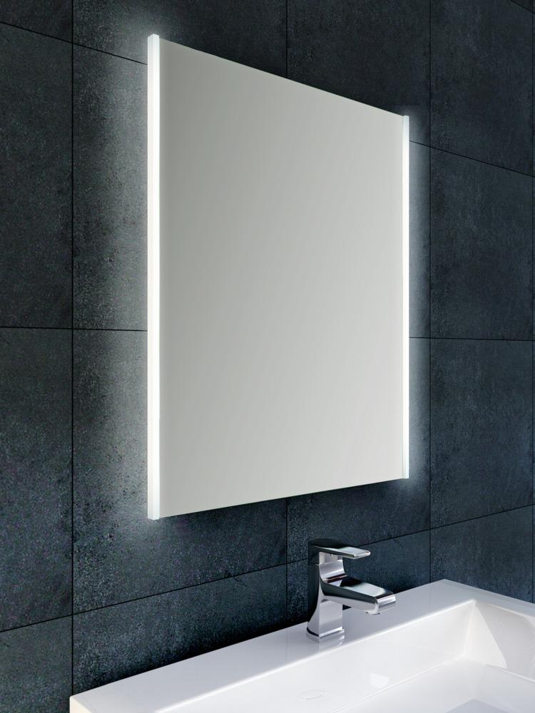 Wiesbaden Duo spiegel 80x60 cm met verticale indirecte LED verlichting & verwarming