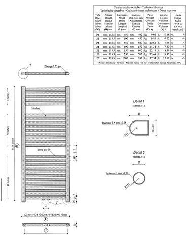 Wiesbaden Elara handdoekradiator 181,7 x 60 cm (H x L) antraciet