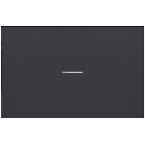 Villeroy & boch Squaro infinity douchebak 180 x 100 x 4 cm. antraciet