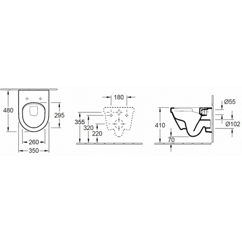 Villeroy & Boch Architectura wandcloset Compact DirectFlush CeramicPlus met zitting SC + QR