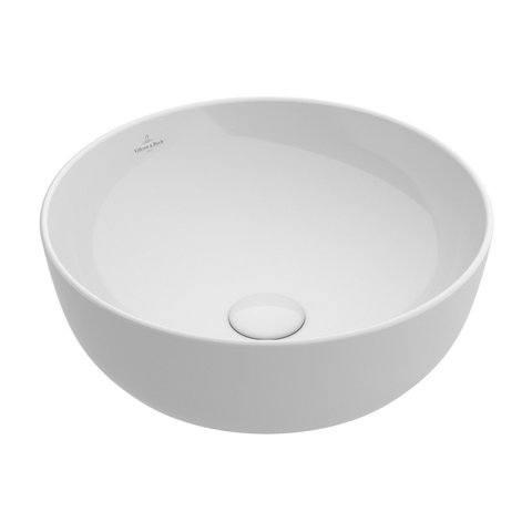 Villeroy & boch Artis opzetwastafel rond 43cm zonder kraangat - zonder overloop - CeramicPlus - wit