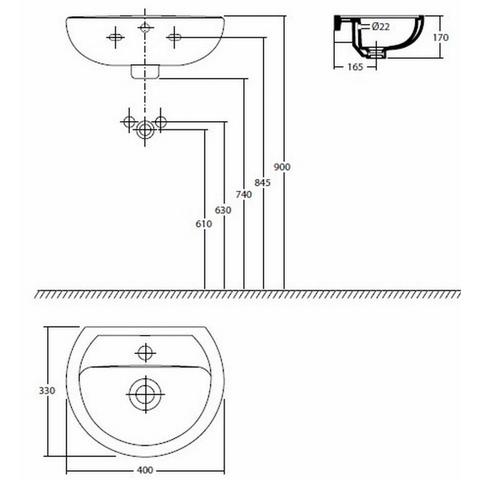 Sphinx E-Con fontein 40x33cm met kraangat