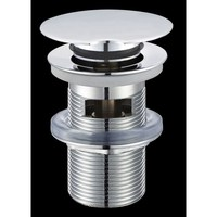 "Blinq Goya pop-up wastafelplug 1 1/4"" draaibare afsluiting voor overloop chroom"