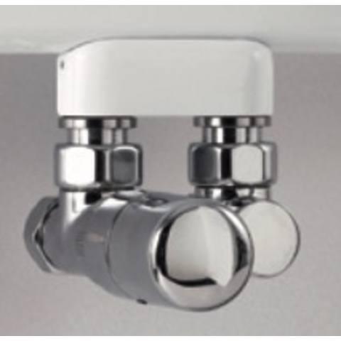 Instamat rechte thermostatische aansluitset chroom