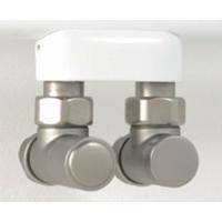 """Instamat Cylinder aansluitset 1/2"""" haaks geborsteld rvs"""