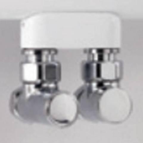 """Instamat Cylinder aansluitset 1/2"""" recht chroom"""