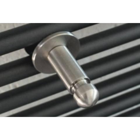 Instamat handdoekknop geborsteld roestvaststaal voor buisradiatoren