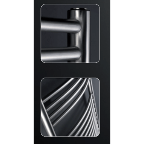 Instamat Inox Straight badkamerradiator 149 x 50,5 cm (H x L) gepolijst rvs
