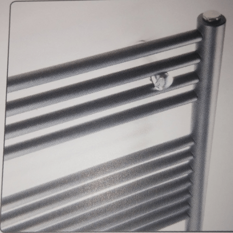 Instamat Nera designradiator 185 x 60 cm (H x L) grijs