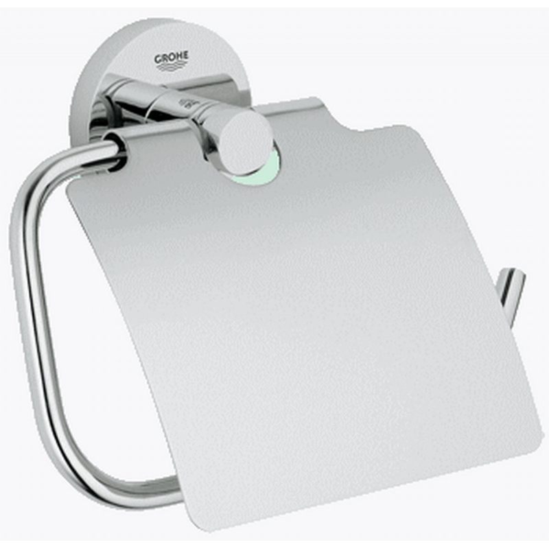 Grohe Essentials toiletrolhouder met klep chroom