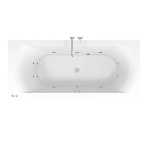 Riho Lima Easypool 3.0 whirlpool bad 170x75cm pneumatisch