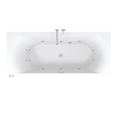 Riho Lima Easypool 3.0 whirlpool bad 180x80cm pneumatisch